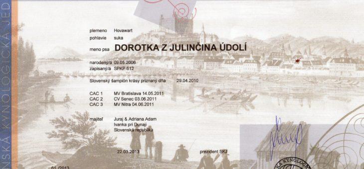 Dorotka Slovenský grand šampión